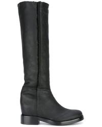 Botas de caña alta de cuero negras de A.F.Vandevorst