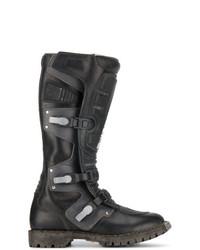 Botas de caña alta de cuero negras de Balenciaga