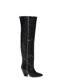 Botas de caña alta de cuero negras de IRO