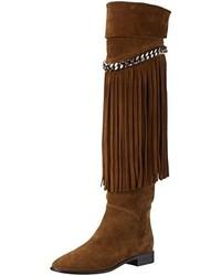 Botas de caña alta en marrón oscuro de Casadei