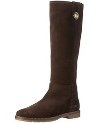 Botas de caña alta en marrón oscuro de Tommy Hilfiger