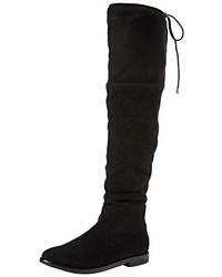 Botas de caña alta negras de Boohoo