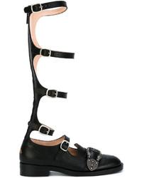 Botas de caña alta negras de Gucci