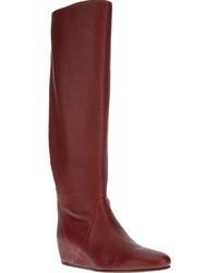Botas de cana alta rojas original 1549311
