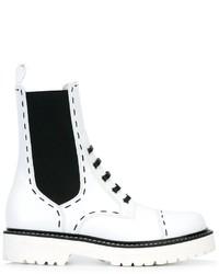 Botas de cuero blancas de Dolce & Gabbana