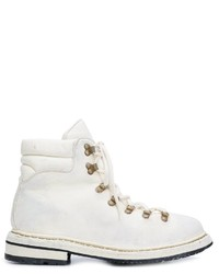 Botas de cuero blancas de Guidi