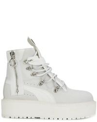 Botas de cuero blancas de Puma