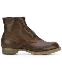 Botas de cuero en marrón oscuro de Guidi