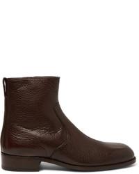 Botas de cuero en marrón oscuro de Tom Ford