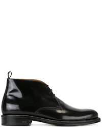 Botas de cuero negras de AMI Alexandre Mattiussi