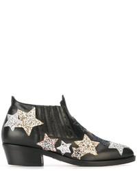 Botas de cuero negras de Chiara Ferragni