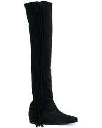 Botas de cuero negras de Etro