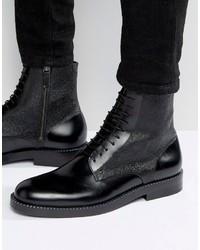 Botas de cuero negras de Hugo Boss