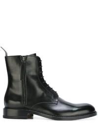 Botas de cuero negras de Jil Sander