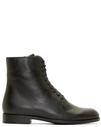 Botas de cuero negras de Jil Sander Navy