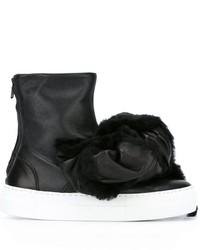 Botas de cuero negras de Joshua Sanders
