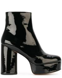 Botas de cuero negras de Marc Jacobs