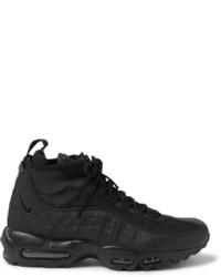 Botas de cuero negras de Nike