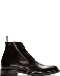 Botas de cuero negras de Saint Laurent