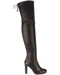 Botas de cuero negras de Stuart Weitzman