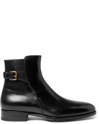 Botas de cuero negras de Tom Ford