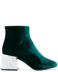 Botas de cuero verde oscuro de MM6 MAISON MARGIELA