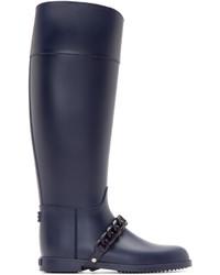 Botas de lluvia azul marino de Givenchy