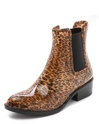 Botas de lluvia de leopardo marrónes de Jeffrey Campbell