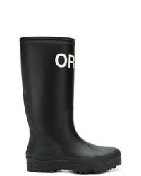 Botas de lluvia estampadas negras de Undercover