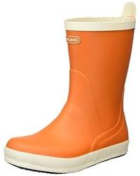 Botas de lluvia naranjas de Viking