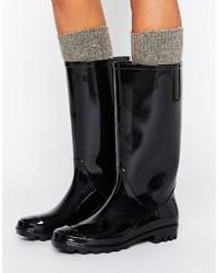 Botas de lluvia negras de Asos
