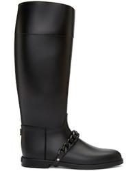 Botas de lluvia negras de Givenchy