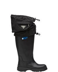 Botas de lluvia negras de Prada