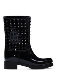 Botas de lluvia negras de Valentino