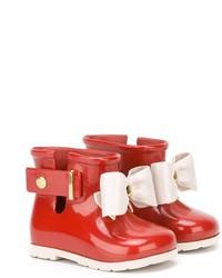 Botas de lluvia rojas de Mini Melissa