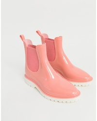 Botas de lluvia rosadas de ASOS DESIGN
