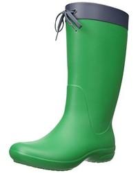 Botas de lluvia verdes de Crocs