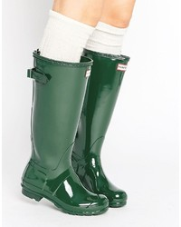 Botas de lluvia verdes de Hunter