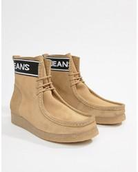Botas de trabajo de ante marrón claro de Tommy Jeans