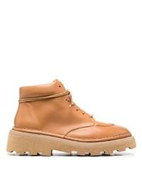 Botas de trabajo de cuero marrón claro de Marsèll