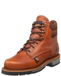Botas de trabajo de cuero marrónes