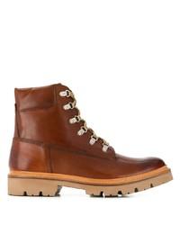 Botas de trabajo de cuero marrónes de Grenson