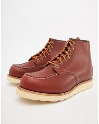Botas de trabajo de cuero marrónes de Red Wing