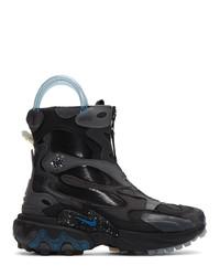 Botas de trabajo de cuero negras de Nike