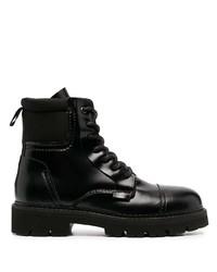 Botas de trabajo de cuero negras de Tommy Jeans