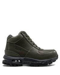 Botas de trabajo de cuero verde oscuro de Nike