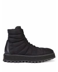 Botas de trabajo de lona negras de Dolce & Gabbana