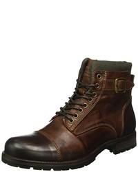 Botas en marrón oscuro de Jack & Jones