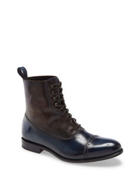 Botas formales de cuero azul marino