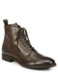 Botas formales de cuero en marrón oscuro